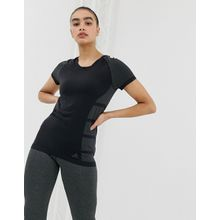 adidas - Primeknit Cru - T-Shirt in Schwarz - Schwarz