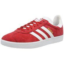 adidas Unisex-Erwachsene Gazelle Low-Top, Rot (Power Red/White/Gold Met.), 42 2/3 EU