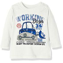 Blue Seven Jungen Mini KN T-Shirt, RH, Weiß (Offwhite ORIG 010), 68
