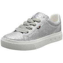 Hilfiger Denim Damen Tommy Jeans Glitter Sneaker, Silber (Silver Glitter 901), 40 EU