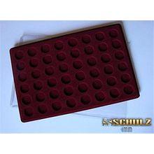 Münzentableau Münztableau in Rot mit Schutzdeckel für 48 Münzen Box NEU! PO48