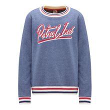 Petrol Industries Sweatshirt rauchblau / dunkelblau / rot / weiß