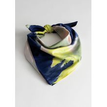 Watercolour Scarf - Blue