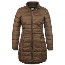 Blend She Carlotta Damen Steppmantel Übergangsmantel Lange Jacke Mit Stehkragen, Größe:XL, Farbe:Brown (20021)