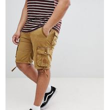 Duke – King Size – Cargo-Shorts mit Taschen in Khaki-Grün