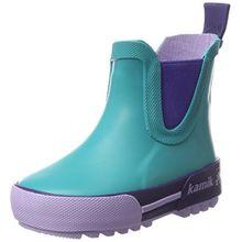 Kamik Unisex-Kinder Rainplaylo Gummistiefel, Mehrfarbig (Teal-Bleu Sarcelle), 27 EU