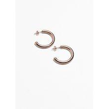 Thick Hoop Earrings - Brown