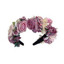 Moschen-Bayern Trachten Blumenkranz Haarreif Blumen Haare Haarband Haarschmuck Hochzeit Oktoberfest - Rosa