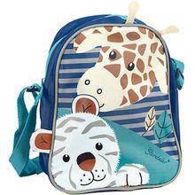Kindergartentasche Kuschelzoo, Tiger Tapsi und Giraffe Greta blau/türkis