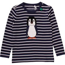 Fred's World Langarmshirt gestreift - Pinguin