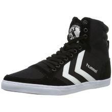 Hummel SLIMMER STADIL HIGH, Unisex-Erwachsene Hohe Sneakers, Schwarz (Black/White KH), 40 EU (6.5 Erwachsene UK)