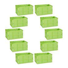 10-tlg. Transportbox Set 60L grün