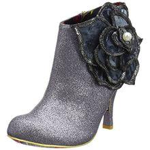 Irregular Choice Pearl Necture, Damen Kurzschaft Stiefel, Silberfarben, 39 EU (6 UK)