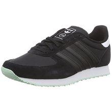 adidas Originals Damen ZX Racer Sneakers, Schwarz (Core Black/Core Black/FTWR White), 38 2/3 EU