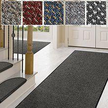 Teppich / Läufer in zahlreichen Größen | anthrazit, gepunktet | Qualitätsprodukt aus Deutschland | Teppichläufer mit GUT Siegel | Küchenläufer, Flurläufer (80x575 cm)