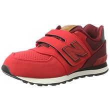 New Balance Unisex-Kinder Sneaker, Rot (Red/Black), 32 EU (13 UK Child)