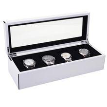 Uhrenkasten Tang L weiß hochglanz