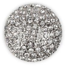 styleBREAKER runder Magnet Schmuck Anhänger mit Strasssteinen besetzt für Schals, Tücher oder Ponchos, Brosche, Damen 05050039, Farbe:Silber
