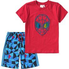 Spider-Man Set T-Shirt + Shorts  blau/rot Jungen Kleinkinder