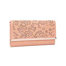 SIX Damen Portemonnaie, längliches rosa Portemonnaie mit Ornamente (703-370)