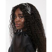 ASOS DESIGN – Haarkrönchen mit Blattverzierung in Silber