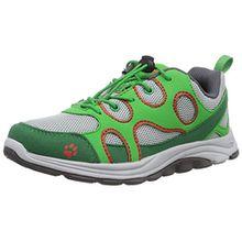 Jack Wolfskin SOUTHPARK LOW K, Unisex-Kinder Sneakers, Grau (cucumber green 4033), 37 EU (4 Kinder UK)