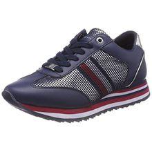 Tommy Hilfiger Damen Tommy Corporate Flag Sneaker, Blau (Tommy Navy 406), 36 EU
