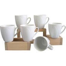 """Creatable 6er-Set Porzellan Kaffeebecher """"Celebration"""" weiß"""