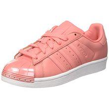 adidas Damen Superstar 80s Metal Toe Sneaker, Pink (Tactile Rose/Footwear White Tactile Rose/Tactile Rose/Footwear White), 38 2/3 EU