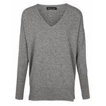 Heine V-Pullover graumeliert