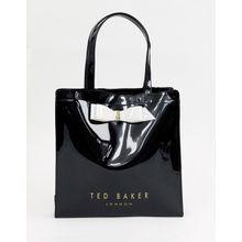 Ted Baker - Almacon - Große Handtasche mit Logo und Schleife - Schwarz