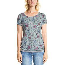 Cecil Damen T-Shirt 312299 Joline, Mehrfarbig (Gingermint Green Melange 31431), Large