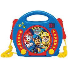 Paw Patrol Kinder CD-Player mit 2 Mikrofonen blau-kombi