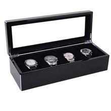 Uhrenkasten Tang L schwarz hochglanz