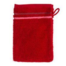 Schiesser 101082 Skyline Color Waschhandschuh, 16 x 22 cm, rot