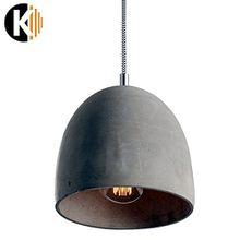 "PREMIUM ZEMENT DESIGN ""HANG-19c"" Deckenlampe Pendelleuchte Pendellampe in Zement Grau, 1x E27 maximal 60 W ohne Leuchmittel"