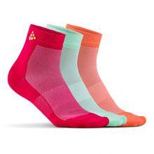 Craft - Greatness Mid 3-Pack Sock - Radsocken Gr 34/36;40/42 grau/weiß;rosa/rot