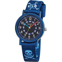 Kinder Armbanduhr Totenkopf blau