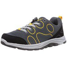 Jack Wolfskin FAIRPORT LOW K, Unisex-Kinder Sneakers, Grau (burly yellow 3800), 34 EU (2 Kinder UK)