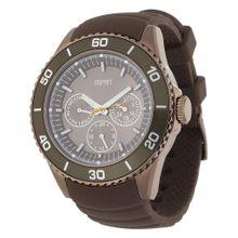 ESPRIT Armbanduhr Deviate mit ausgefallenem Ziffernblatt ES103622007 braun / grau / khaki
