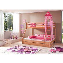 Turmset groß Spielbetten, Herz, pink/rosa  Kinder