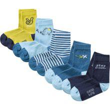 SCHIESSER Socken blau / kobaltblau / hellblau / gelb