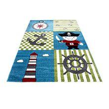 Kinderteppich Kurzflor Pirat Design Kinderzimmer ver. Größen NEU!!!, Größe:120x170 cm, Farbe:Multi