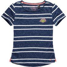 O'NEILL T-Shirt 'LG STRIPEY SURF S/SLV' blau / weiß