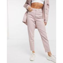 Missguided – Riot – Mom-Jeans in Rosa, Kombiteil
