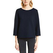 Street One Damen Sweatshirt 300561 Desi, Blau (Deep Blue 11238), 36
