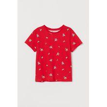 H & M - Jerseyshirt mit Druck - Red - Kinder