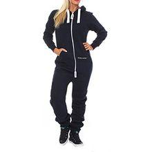 - Drying Jumper Damen Jumpsuit Overall Jogging Anzug Navy XS
