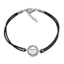 Celesta Silber Armschmuck 925/- Sterling Silber LederArmbänder weiß Damen
