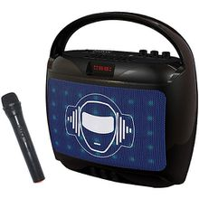 iParty tragbaren Karaoke-Gerät mit Verstärker und Mikrofon, 18W, Lauts schwarz